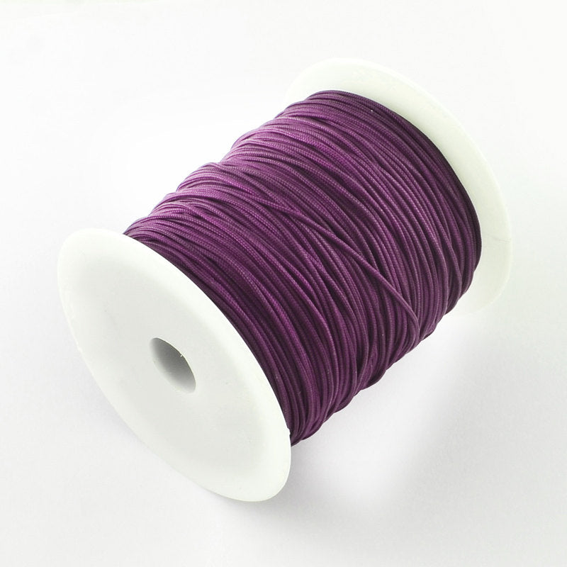 1mm purple mauve violet nylon cord - nylon thread - chineese Knotting Cord - Macrame thread - 10 feet (1445)