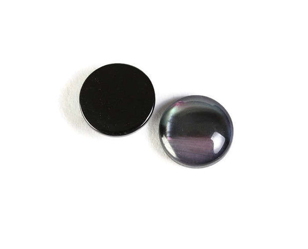 12mm pearlized finish cabochons - 12mm round cabochons - Resin cabochons - 12mm Pearlescent cabochon - 8 pieces (1807)