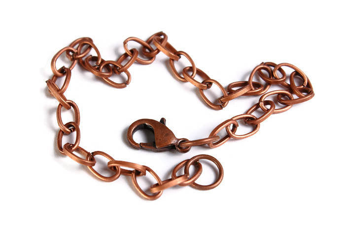 Antique copper bracelet - Cable Chain Bracelet - Antique copper Link Chain With Lobster Clasp - 20cm - 8 inches - 1 bracelet (1847)