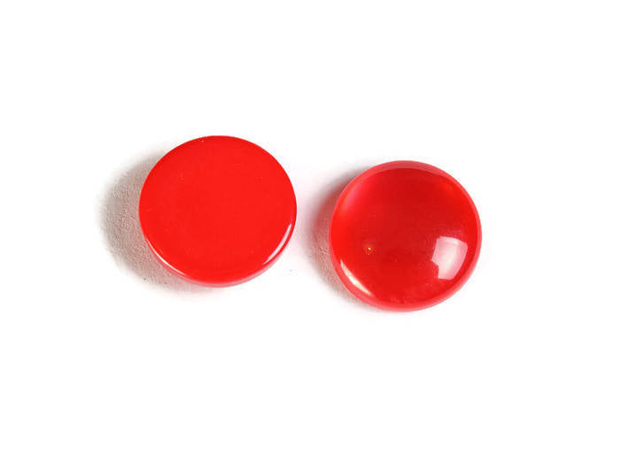 12mm Red round cabochons - Red cabochons - Imitation Cat Eye cabochons - Resin cabochons - 6 pieces (1862)
