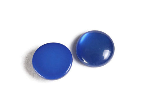 12mm Blue round cabochons - Blue cabochons - Imitation Cat Eye cabochons - Resin cabochons - 6 pieces (1867)