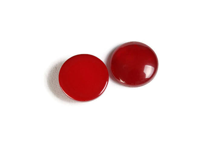 12mm Red round cabochons - Red cabochons - Imitation Cat Eye cabochons - Resin cabochons - 6 pieces (1861)