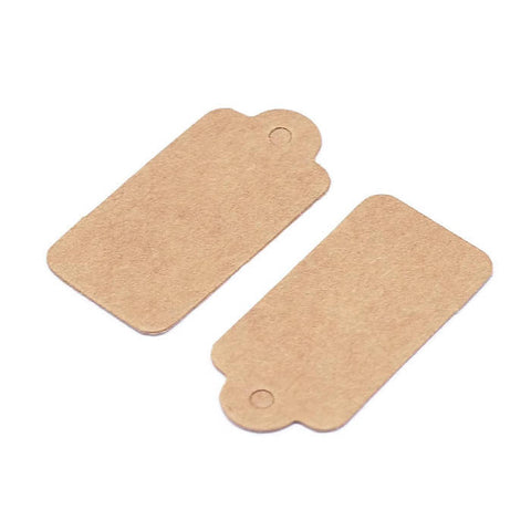 Kraft Jewelry price tags - Kraft Rectangle Paper Price Tags - blank tags - Kraft Tags - 30mm x 15mm - 30 pieces (1915)