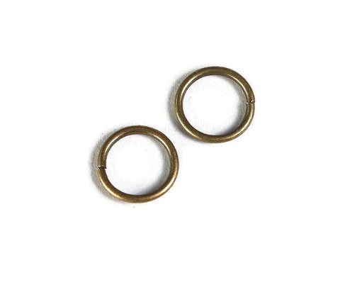 8mm antique brass jumprings - 8mm close jump ring - 8mm round jumprings - 8mm connector - 20 pieces (1947)