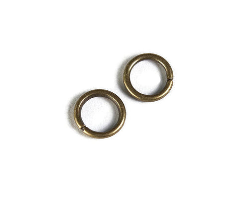 6mm Petite antique brass jumprings - 6mm open jumpring - 6mm round jumprings - 6mm Open jump rings - 50 pieces (1945)