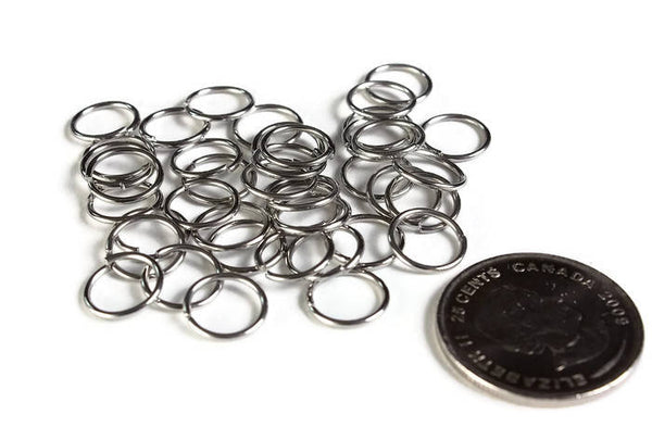 10mm stainless steel jumprings - 10mm open jumpring - 10mm round jumprings - 10mm unsoldered jump rings - 40 pieces (1999)