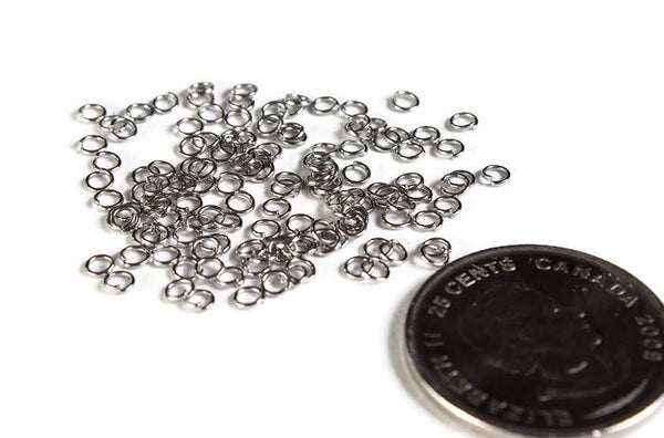 3mm stainless steel jumprings - 304 stainless steel - 3mm open jumpring - 3mm round jumprings - 3mm split jump rings - 3mm jump rings - 50 pieces (2000)
