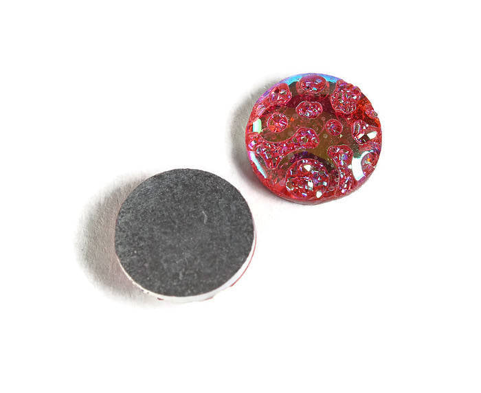 12mm AB Pink round cabochon