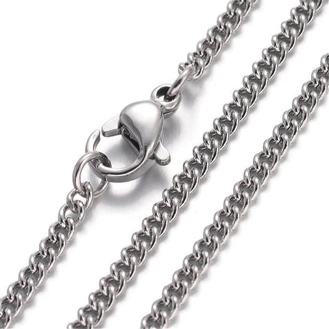 18 inches curb chain necklace