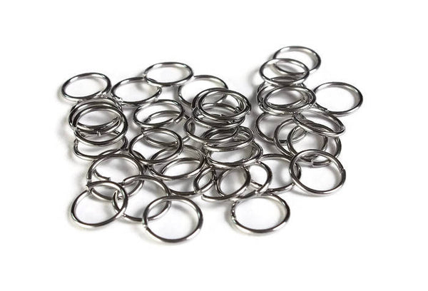 10mm stainless steel jumprings - 304 Stainless Steel - 10mm open jumpring - 10mm round jumprings - 10mm unsoldered jump rings - 40 pieces (1999)