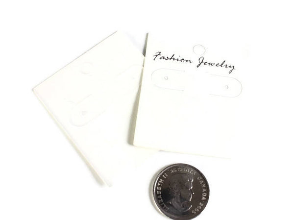 Earring display cards - Fashion jewelry display cards - white display cards - 58mm x 50mm - 10 pieces (1995) - Flat rate shipping