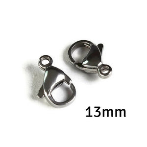 13mm Stainless steel clasps - Stainless steel lobster clasps (2114)