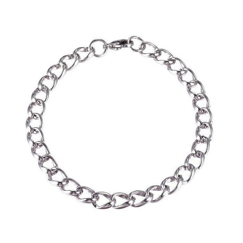 "Stainless steel bracelet 8 5/8"" - Curb Chain Bracelets with Lobster Clasps - 8 5/8 inches (2179)"