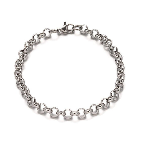 "Stainless steel bracelet 7 7/8"" - Cable Chain Bracelet with Lobster Clasp - 7 7/8 inches (2178)"
