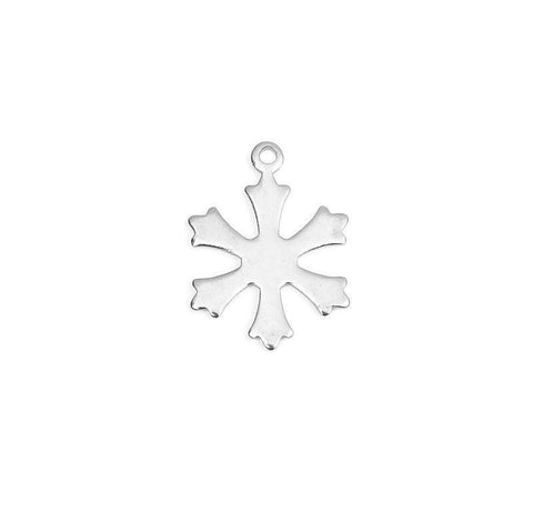 Stainless Steel snowflake charms - Christmas Charms - stainless steel charms - Stainless steel pendant charms - 19mm x 14mm (2317)