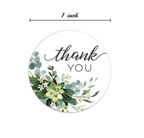 "Thank you stickers - Thank you flowers labels - 1"" round labels - Autumn Flowers message label (2323)"