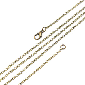 "26"" length - Antique brass necklace 26"" - Cable Chain with Lobster Clasp - 26 inches - Nickel free - Lead free (2386)"