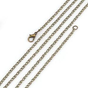 "30"" length - Antique brass necklace 30"" - Cable Chain with Lobster Clasp - 30 inches - Nickel free - Lead free (2396)"