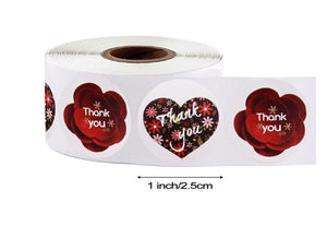"Thank you stickers - Thank you flowers labels - 1"" round labels - Flowers message label - floral thank you sticker - Mixed label (2421)"