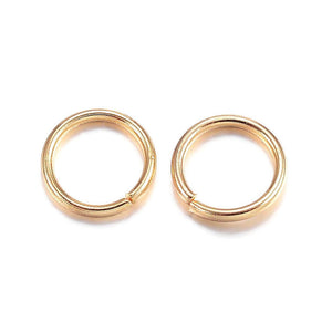 4mm stainless steel jumprings - 4mm gold color jump rings - 4mm round jumprings - 4mm split jump rings - 4mm open jump rings (2431)