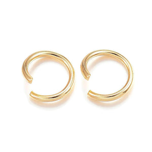 8mm stainless steel jumprings - Gold color jump rings - 304 stainless steel - open jumpring - round jumprings - 8mm split jump rings (2455)