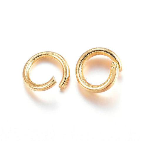 4mm stainless steel jumprings - 4mm gold color jump rings - 4mm round jumprings - 4mm split jump rings - 4mm open jump rings (2450)