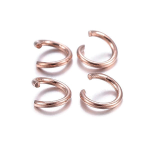5mm stainless steel jumprings - Rose gold color - 20 gauge - 304 stainless steel - open round jumprings - 5mm split jump rings (2464)