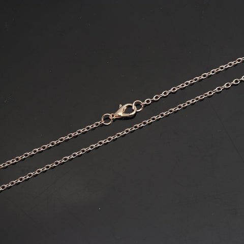 "24"" length - Rose gold color necklace 24"" - Cable Chain with Lobster Clasp - Nickel free - Lead free - 24 inches (2487)"