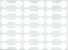 White jewelry price tag sticker 12mm - 96 pieces (421)