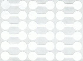 White jewelry price tag sticker 12mm - 24 price labels (421-1)