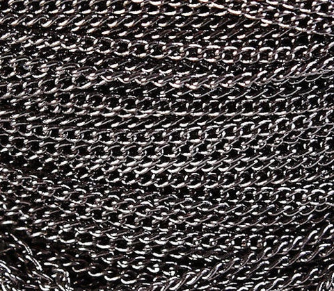 Gunmetal chain - black twist chain - 2mm x 1mm (600)