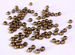 3mm antique brass round beads - 3mm spacer beads - antique brass bead spacer - 3mm metal spacers - Nickel free - 50 pieces (670---)