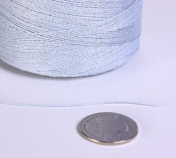 0.5mm Light blue bamboo cord - Blue bamboo cord - Blue bamboo thread - Blue macrame cord (859)