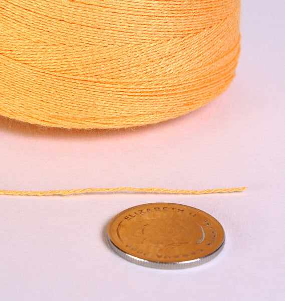 0.5mm Yellow bamboo cord - twisted thread - Macrame cord - Yellow macrame thread (869)