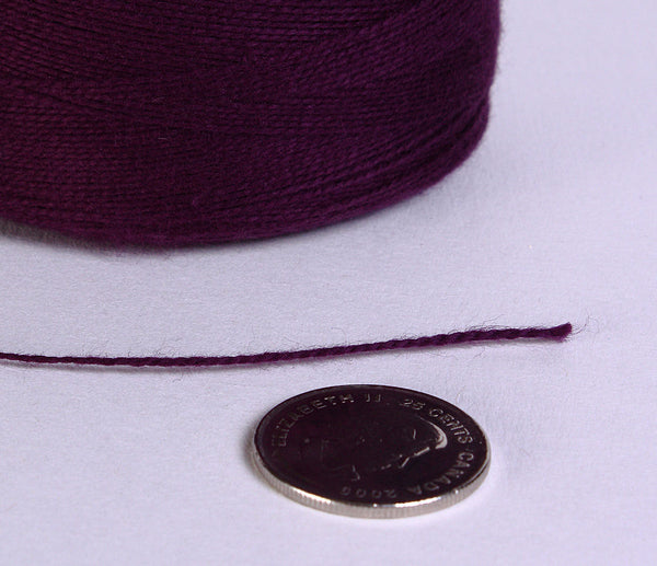 0.5mm Purple violet mauve bamboo cord - twisted thread - Macrame thread - Macrame cord - 10 feet (871)