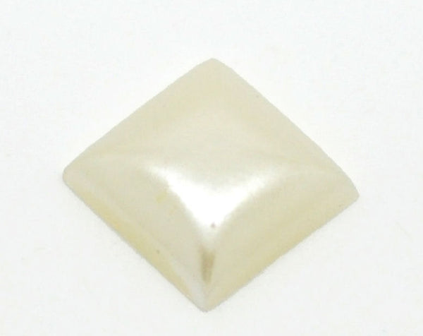 10mm Off-white square cabochons - 10mm Cream square cabochon - Domed cabochons - 8 pieces (921)