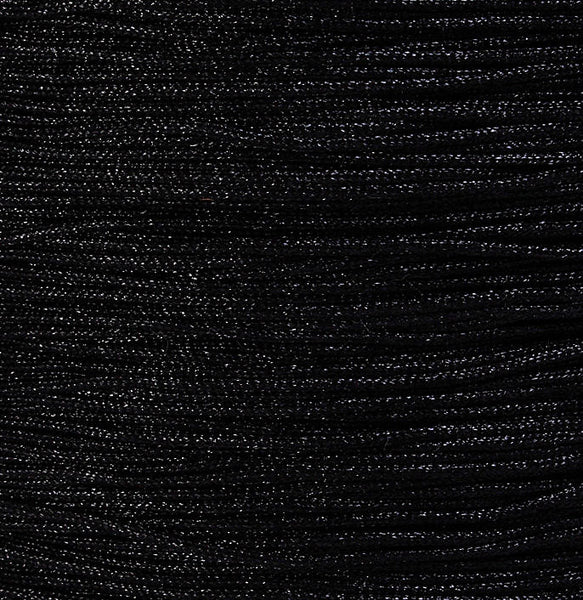 1mm Black nylon cord twisted thread - 10 feet (923)