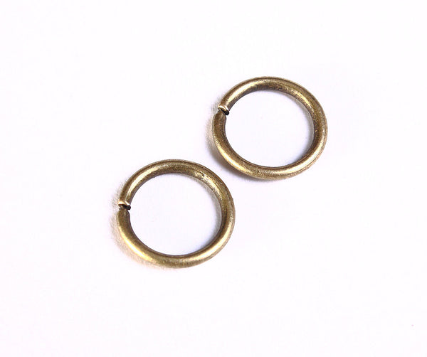 10mm antique brass jumpring - round jumpring - open jumpring - antique bronze jumpring - nickel free - lead free - 30 pieces (990)