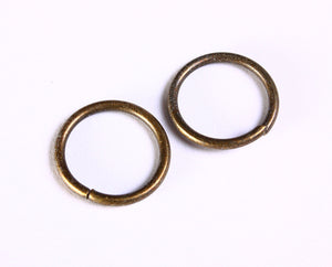 18mm antique brass jumpring - 18mm round jump ring - 18mm large jumprings - 18mm big jumprings - 10 pieces (1033)