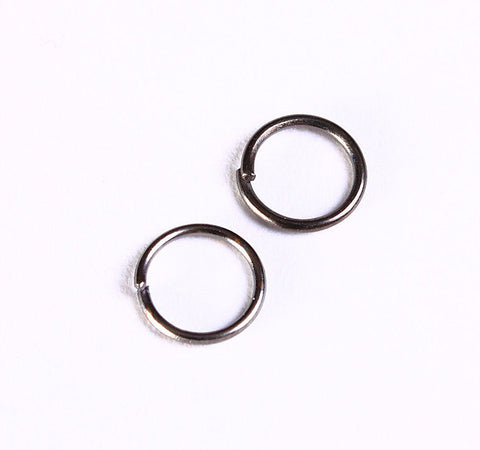 7mm Gunmetal black jumpring - open round jump ring - Lead free - Nickel free - 50 pieces (1037)