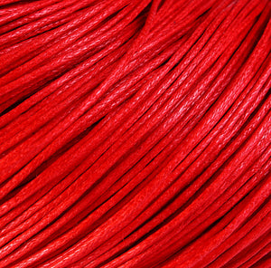 1mm Red cotton wax cord - 10 feet (1099)
