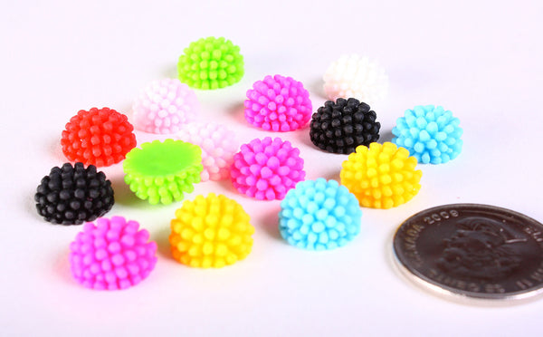 12mm Mixed color round cabochon - 8 pieces (1168---)