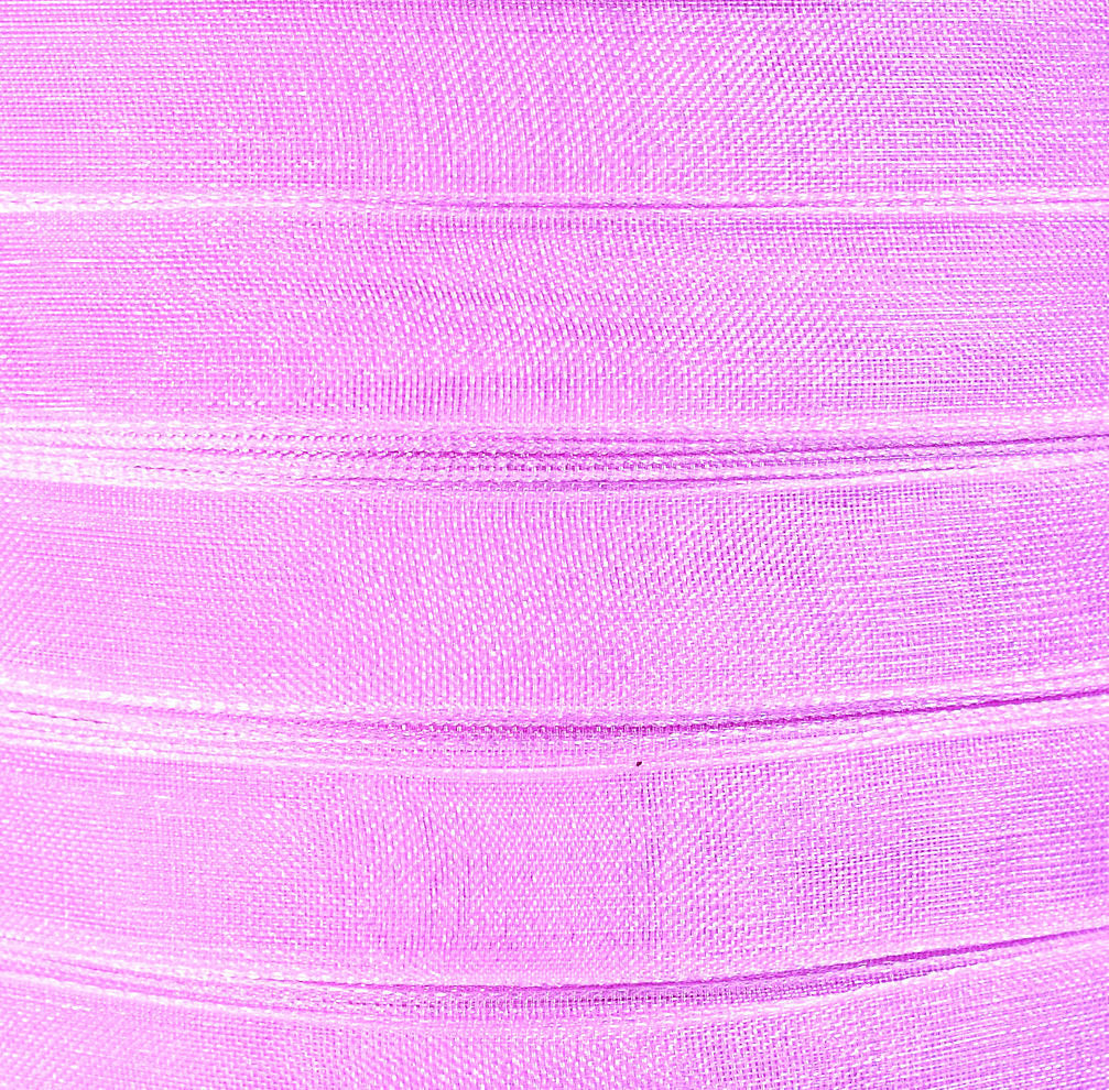10mm Lilac purple organza ribbon - 3/8 Inch organza ribbon - 50 yards - 150 feet (R014)