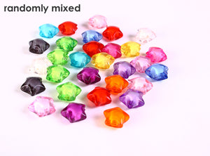 12mm Mixed color star beads - 12mm spacer beads - 12mm miracle beads - 12mm multicolore beads - 10 pieces (1270---)