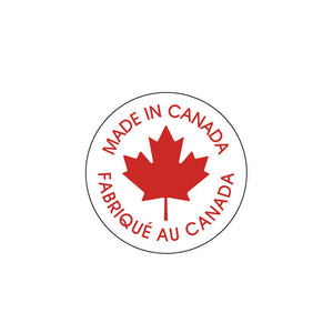 Made in Canada stickers 1inch - circle red and white round label - Made in Canada label - round sticker tags - 10 pieces (1303)