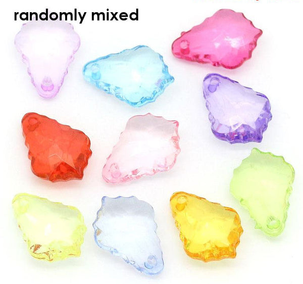 Mixed color teardrop charms - 16mm x 11mm - 20 pieces (1343)
