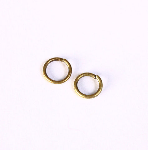 7mm antique brass jumpring round - 7mm open jumprings - round jump ring - 50 pieces (1404)