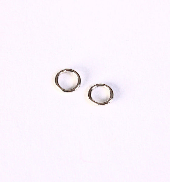 5mm silver tone jumpring - round jump rings - open jump rings - nickel free - lead free - 50 pieces (1403---)