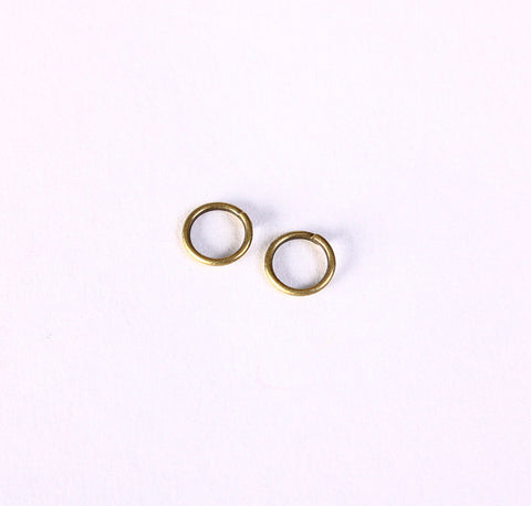 6mm Petite antique brass jumpring - open jump rings - round jumprings (1400)
