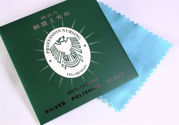 Silver polish antitarnish cloth - Silver polishing cloth - Made in Germany - 82mm - 1 piece (1421)